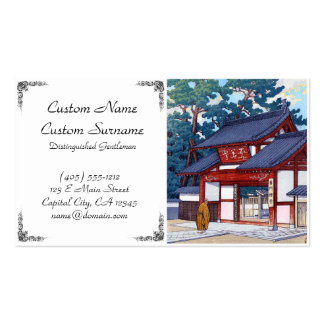 Cool japanese Kawase summer house village scene Double-Sided Standard Business Cards (Pack Of 100)