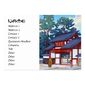 Cool japanese Kawase summer house village scene Large Business Cards (Pack Of 100)