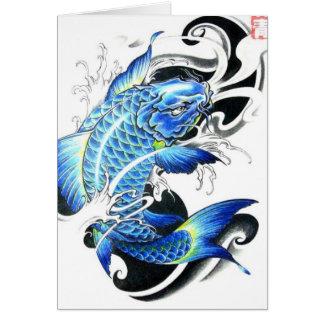 Cool Japanese Koi Fish Greeting Card