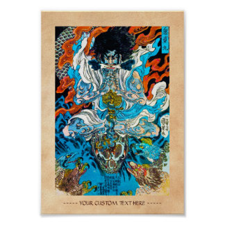 Cool japanese legendary warrior hero sanin snake poster
