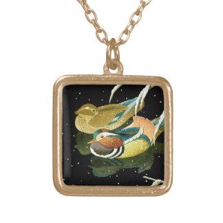 Cool japanese mandarina duck black pond snow custom jewelry