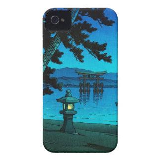 Cool japanese moonlit night gate sea hasui kawase iPhone 4 Case-Mate case