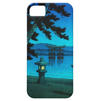 Cool japanese moonlit night gate sea hasui kawase iPhone 5 cover