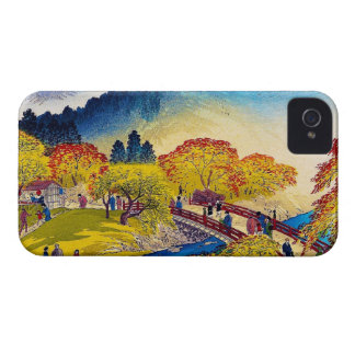 Cool japanese mountain fall river bridge scenery Case-Mate iPhone 4 cases