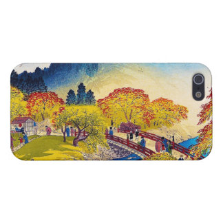 Cool japanese mountain fall river bridge scenery iPhone 5 case