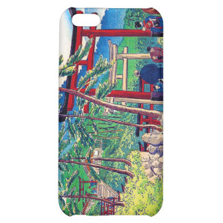 Cool japanese mountain tori gate people scenery cover for iPhone 5C