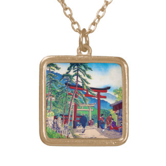 Cool japanese mountain tori gate people scenery pendants