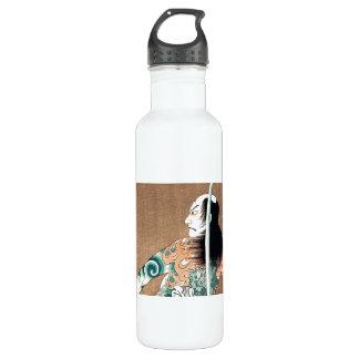 Cool Japanese Natsumatsuri Danshichi tattoo 710 Ml Water Bottle