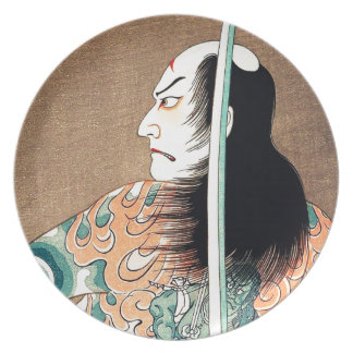 Cool Japanese Natsumatsuri Danshichi tattoo Dinner Plate