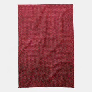 Cool japanese oriental cherry red fish scale tea towel