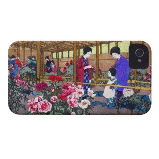 Cool japanese oriental flower garden people scene iPhone 4 cases