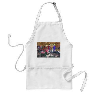 Cool japanese oriental flower garden people scene standard apron