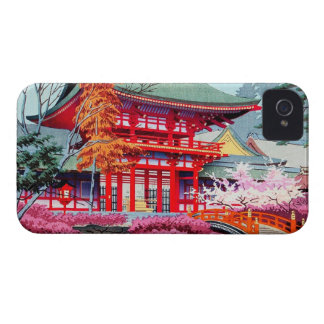 Cool japanese Red Temple Spring Asano Takeji iPhone 4 Case-Mate Cases