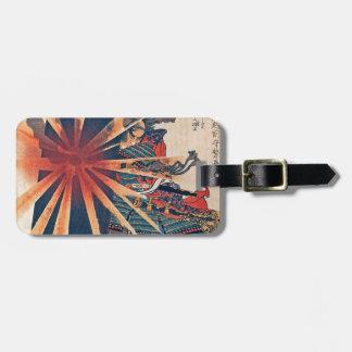 Cool Japanese Samurai Warrior Blistering Sun Art Luggage Tag