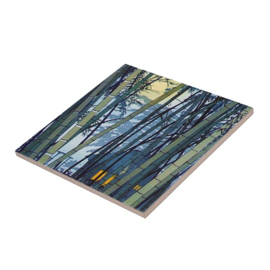 Cool japanese Shiro Kasamatsu Bamboo Early Summer Small Square Tile