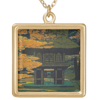 Cool japanese Shiro Kasamatsu Forest Srine art Square Pendant Necklace