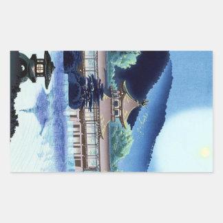 Cool japanese Tokuriki Heian Shrine in Kyoto Rectangular Sticker