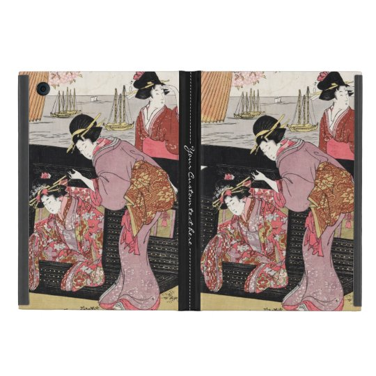 Cool japanese ukiyo-e trio geisha lady scroll cover