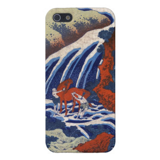 Cool japanese ukiyo-e vintage waterfall scenery iPhone 5/5S cases
