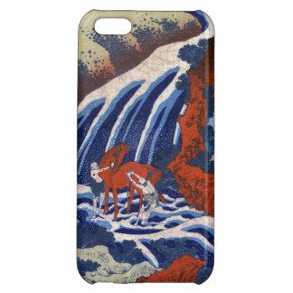 Cool japanese ukiyo-e vintage waterfall scenery iPhone 5C cases
