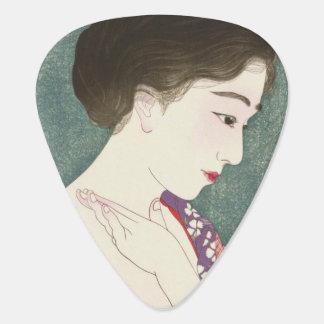 Cool japanese vintage beauty geisha lady woman plectrum