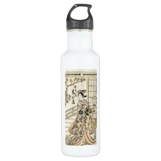 Cool japanese vintage ukiyo-e geisha lady scroll 710 ml water bottle