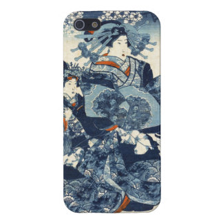 Cool japanese vintage ukiyo-e geisha scroll art iPhone 5/5S covers