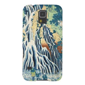 Cool japanese vintage ukiyo-e Hokusai waterfall Galaxy S5 Covers