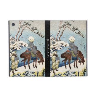 Cool japanese vintage ukiyo-e raider winter scene case for iPad mini