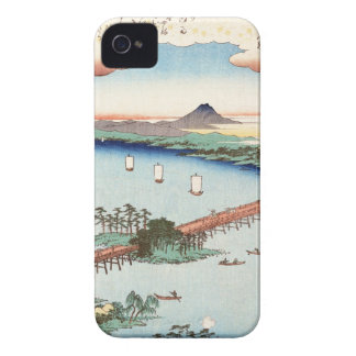 Cool japanese vintage ukiyo-e scenery waterscape Case-Mate iPhone 4 cases