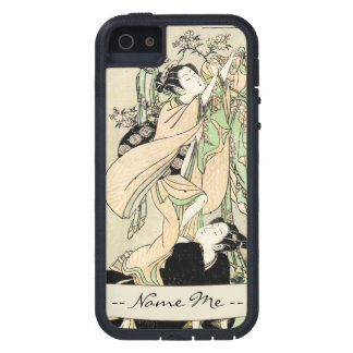 Cool japanese vintage ukiyo-e scroll two geishas iPhone 5 covers