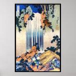 Cool japanese vintage ukiyo-e waterfall Hokusai