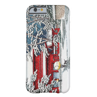 Cool japanese winter temple shrine kyoto scenery barely there iPhone 6 case