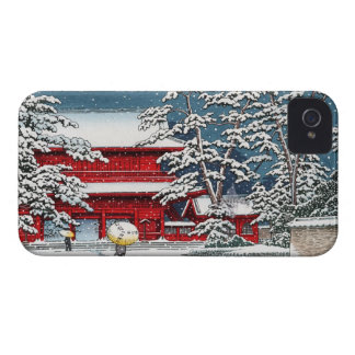 Cool japanese winter temple shrine kyoto scenery iPhone 4 Case-Mate case