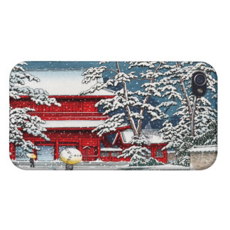 Cool japanese winter temple shrine kyoto scenery iPhone 4 covers