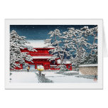 Cool japanese winter temple shrine kyoto scenery note card