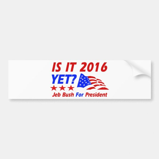 Cool Jeb Bush designs Bumper Sticker