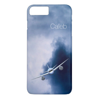 Cool Jet Plane Flying in the Sky Pilot Slim Pilot iPhone 8 Plus/7 Plus Case