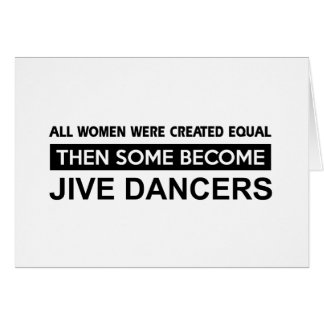 Cool Jive dancer designs Greeting Card