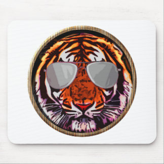 cool jungle cat round mousepad
