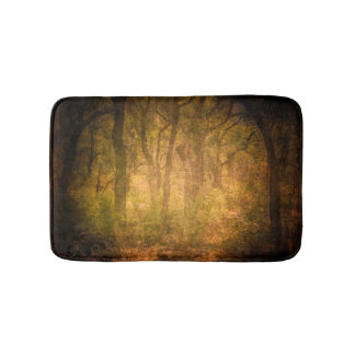 Cool Jungle trees theme texture background design Bath Mat