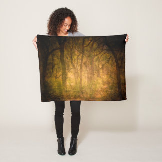 Cool Jungle trees theme texture background design Fleece Blanket