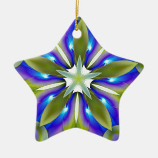 Cool Kaleidoscope Ceramic Star Decoration