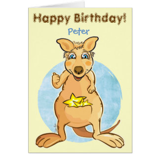 Cool kangaroo - card