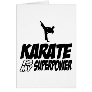 Cool KARATE designs Card