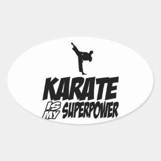 Cool KARATE designs Oval Sticker