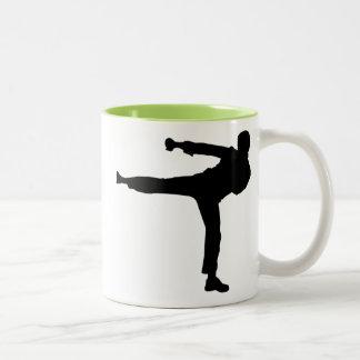 Cool Karate Kick Two-Tone Coffee Mug