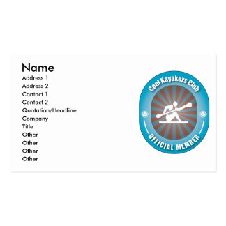 Cool Kayakers Club Pack Of Standard Business Cards