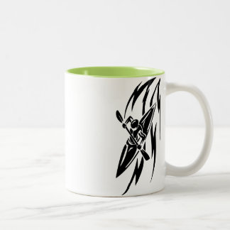 Cool Kayaking Two-Tone Coffee Mug