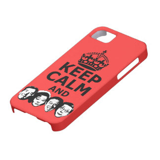 Cool keep calm and carry on iPhone 5 cover